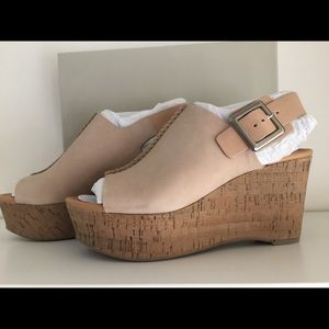 Marc Fisher leather wedges